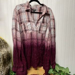 Lane Bryant Ombre Flannel Tunic Size 14/16
